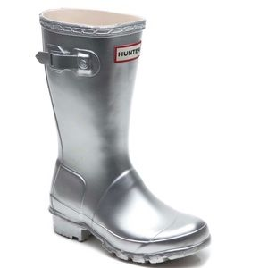 Hunter Original Rain boots in Silver- Children